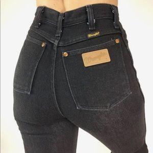 Wrangler vintage high waist black jeans